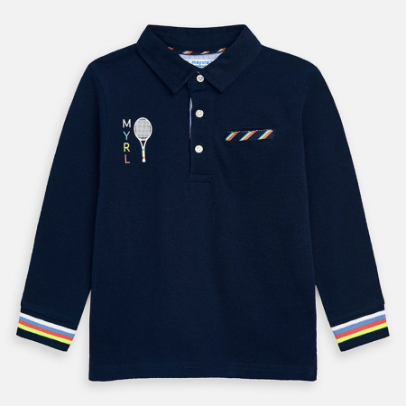detail  Boy's printed short-sleeved polo shirt